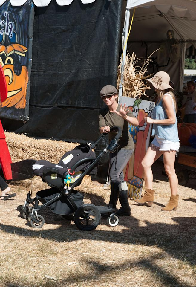Jillian Michaels at Mr Bones Pumpkin Patch.