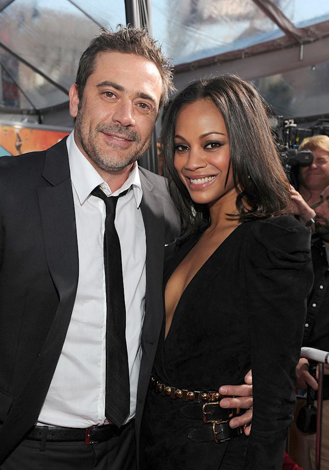 "<a href=""http://movies.yahoo.com/movie/contributor/1800162296"">Jeffrey Dean Morgan</a> and <a href=""http://movies.yahoo.com/movie/contributor/1800362233"">Zoe Saldana</a> at the Los Angeles premiere of <a href=""http://movies.yahoo.com/movie/1810096356/info"">The Losers</a> - 04/20/2010"
