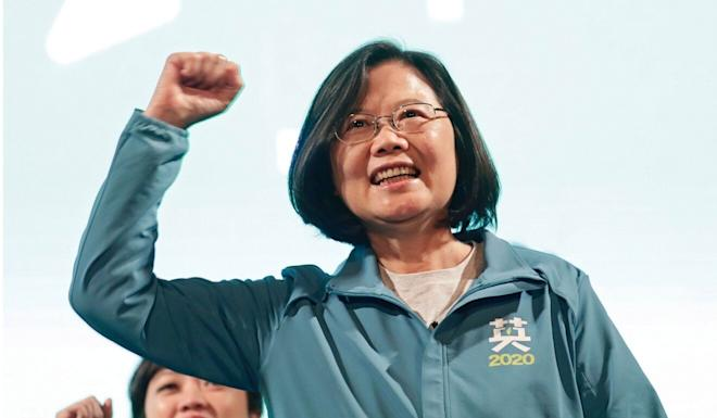 Tsai Ing-wen's open support for Hong Kong protesters led to her landslide election victory in January. Photo: EPA-EFE