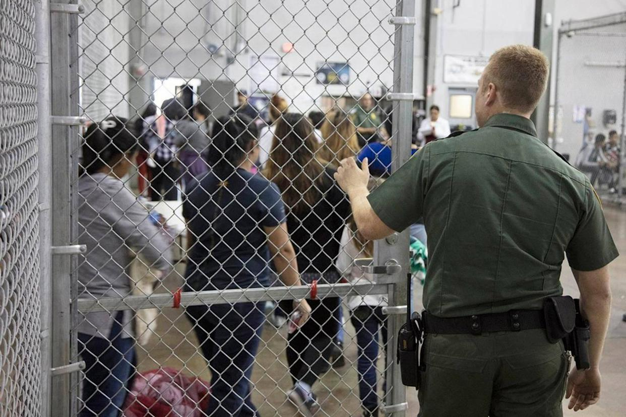 Inside a United States border patrol processing Centre (EPA/US Customs and Border Protection)