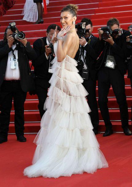 PHOTO: Bella Hadid attends the screening of 'Rocket Man' during the Cannes Film Festival on May 16, 2019 in Cannes, France. (Tony Barson/FilmMagic/Getty Images)