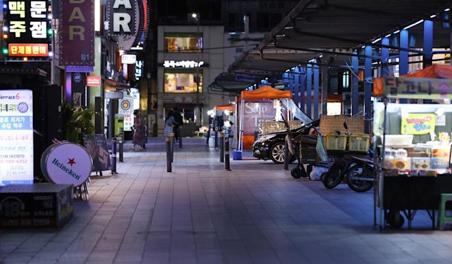 An empty street in Jongno, one of the busiest districts in Seoul. Photo: EPA-EFE