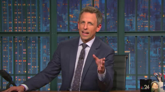 Seth Meyers trashed President Donald Trump Tuesday night for his response to the humanitarian crisis unfolding in Puerto Rico following Hurricane Maria.