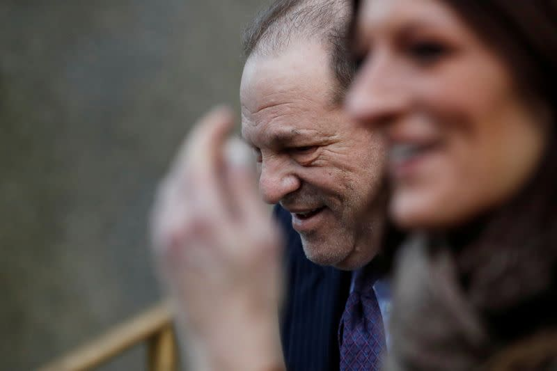 Harvey Weinstein departs New York Criminal Court after the second day of jury deliberations in his sexual assault trial in the Manhattan borough of New York City, New York