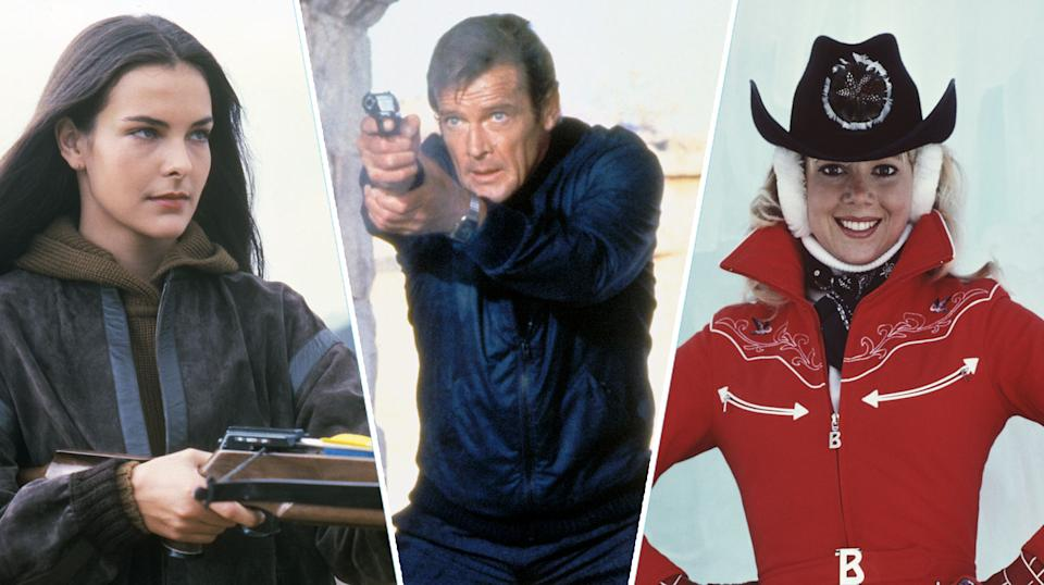 Carole Bouquet, Roger Moore, Lynn-Holly Johnson in For Your Eyes Only (Getty Images)