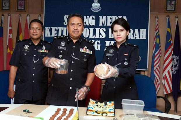 Hamzah (centre) said a 32-year-old man has been arrested to facilitate investigations. — Bernama pic