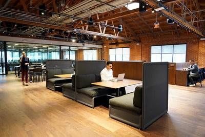 CommonGrounds Burbank Workplace second-floor coworking and private offices