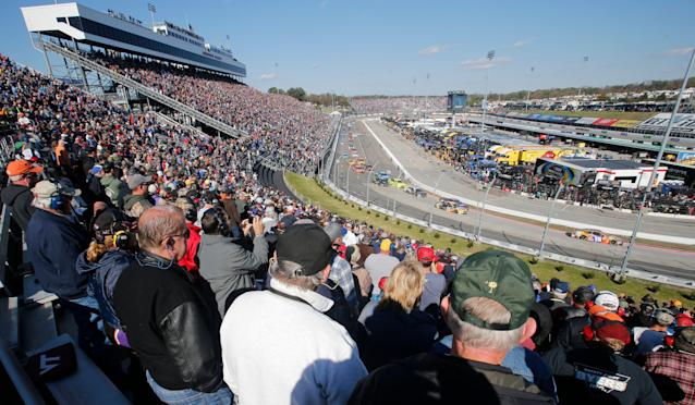 Eight different drivers have won the last eight Martinsville spring races. And they're all entered in Sunday's race. (AP Photo/Steve Helber)