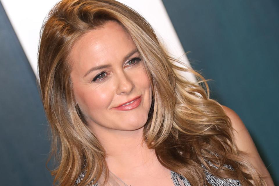 Alicia Silverstone has revealed her son Bear has cut his long hair, pictured in February 2020. (Getty Images)