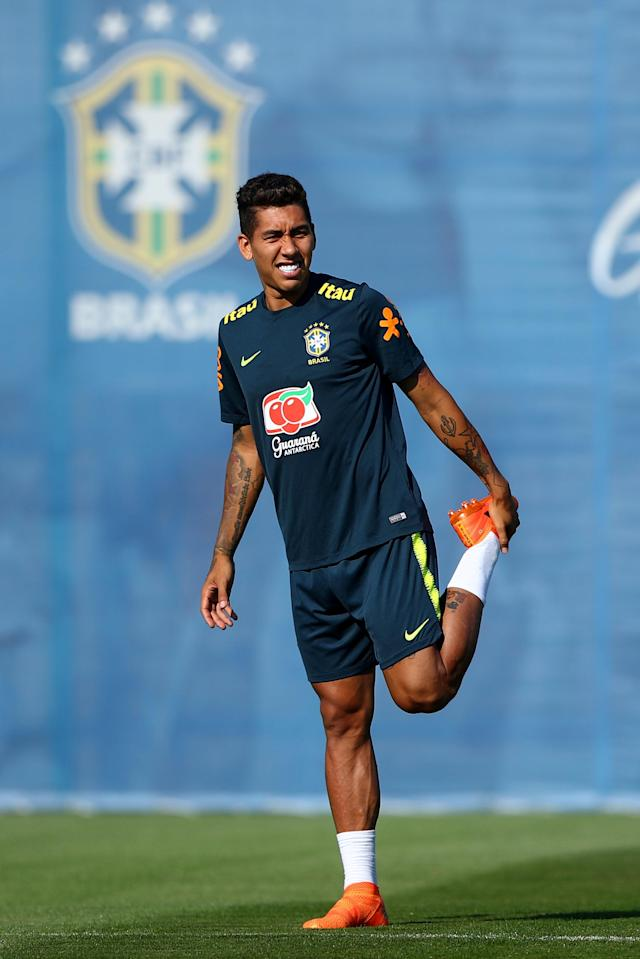 Soccer Football - World Cup - Brazil Training - Brazil Training Camp, Sochi, Russia - June 24, 2018 Brazil's Roberto Firmino during training REUTERS/Hannah McKay