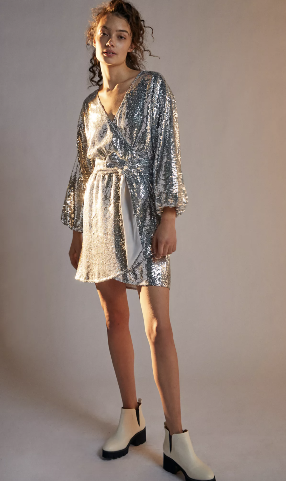 Lisabette Sequined Mini Dress - Anthropologie, $100 (originally $178)