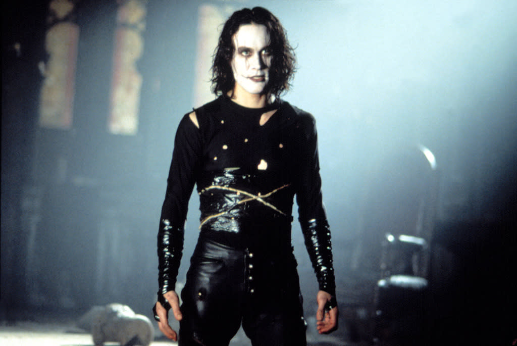 "<a href=""http://movies.yahoo.com/movie/contributor/1800086829"">BRANDON LEE</a> -- <a href=""http://movies.yahoo.com/movie/1800025366/info"">THE CROW</a>   In a coincidence so ghoulish people speculated there may have been some sort of ""curse"" involved, Bruce Lee's son Brandon was killed in a freak on-set accident during filming of 1994's ""The Crow."" An improperly-cleaned prop gun discharged a blank that pierced Lee's abdomen and lodged in his spine. After the tragic mishap, production resumed using stunt doubles and digital trickery for the remaining scenes."