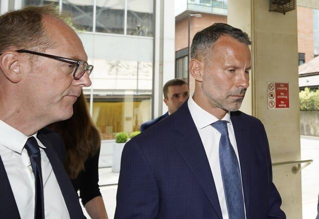 Ryan Giggs arrives at court