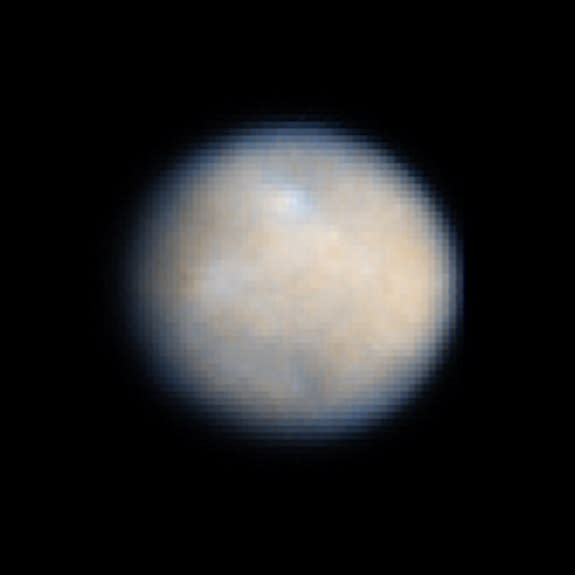 The dwarf planet Ceres as seen by the Hubble Space Telescope.