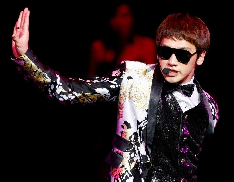 South Korean pop icon Rain performs at The Colosseum on December 24, 2009 in Las Vegas, Nevada. Rain has been officially released after serving two years' mandatory military service , with hundreds of fans shedding tears of joy over the star's comeback