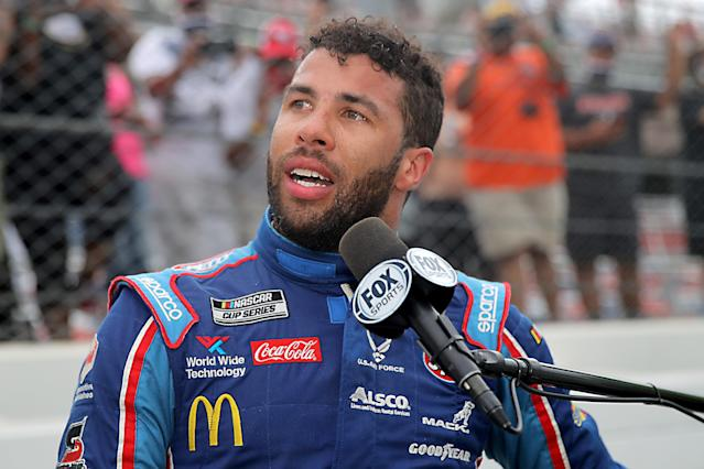 Bubba Wallace is having to answer for an investigation that didn't really involve him. (Photo by Chris Graythen/Getty Images)