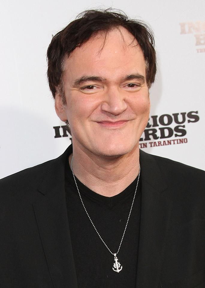 "<a href=""http://movies.yahoo.com/movie/contributor/1800021942"">Quentin Tarantino</a> at the Los Angeles premiere of <a href=""http://movies.yahoo.com/movie/1808404206/info"">Inglourious Basterds</a> - 08/10/2009"