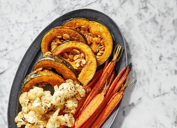 """<h2 class=""""headline recipe-mobile"""">1. Roasted Winter Vegetable Platter with Miso Aioli and Romesco Sauce</h2> <p>If you ask us, it's just not a holiday without a robust crudités spread. This one skips the typical ranch dip in favor of two irresistible vegan options.</p> <p><a class=""""link rapid-noclick-resp"""" href=""""https://www.purewow.com/recipes/roasted-winter-vegetable-platter-miso-aioli-romesco-sauce"""" rel=""""nofollow noopener"""" target=""""_blank"""" data-ylk=""""slk:Get the recipe"""">Get the recipe</a></p>"""