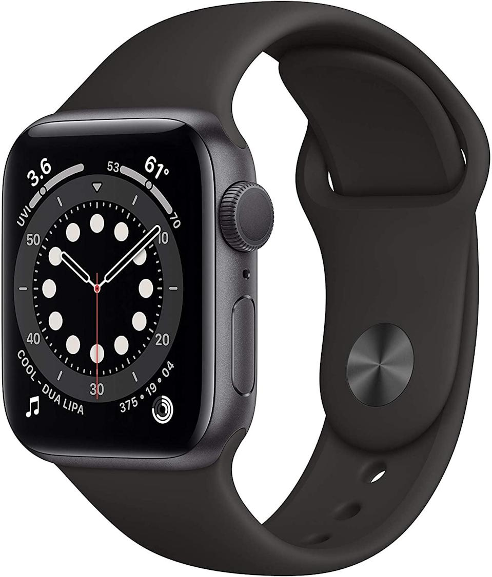 <p>Keep her on track with fitness goals, her health, and overall life with the <span>Apple Watch Series 6 (GPS, 40mm)</span> ($399).</p>