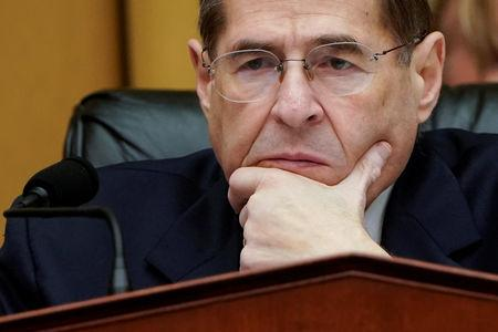 FILE PHOTO:    Chairman of the House Judiciary Committee Jerrold Nadler (D-NY) listens to testimony during a mark up hearing on Capitol Hill in Washington