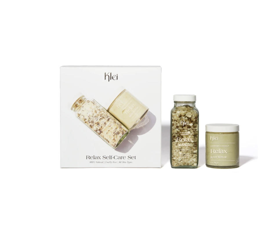 "<p>kleibeauty.com</p><p><strong>$48.00</strong></p><p><a href=""https://kleibeauty.com/collections/gift-sets/products/relax-self-care-set"" rel=""nofollow noopener"" target=""_blank"" data-ylk=""slk:Shop Now"" class=""link rapid-noclick-resp"">Shop Now</a></p><p>There are a number of at-home spa kits on the market. But 10% of the proceeds from this kit helps Brooklyn-based organizations, like <a href=""https://wearebcs.org/"" rel=""nofollow noopener"" target=""_blank"" data-ylk=""slk:Brooklyn Community Services"" class=""link rapid-noclick-resp"">Brooklyn Community Services</a> and <a href=""https://thebnia.org/"" rel=""nofollow noopener"" target=""_blank"" data-ylk=""slk:Brooklyn Neighborhood Improvement Association"" class=""link rapid-noclick-resp"">Brooklyn Neighborhood Improvement Association</a>.</p>"