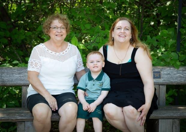 From left: Patricia Lingel, her grandson Olen and daughter Carla Boisvert. Boisvert said her mother was initially able to live on her own with help from a palliative nurse coming to help, but later had to be taken to hospital. Soon after she contracted COVID-19 and died.