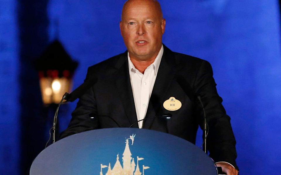 Disney chief Bob Chapek has warned of a change to how movies are seen - AP