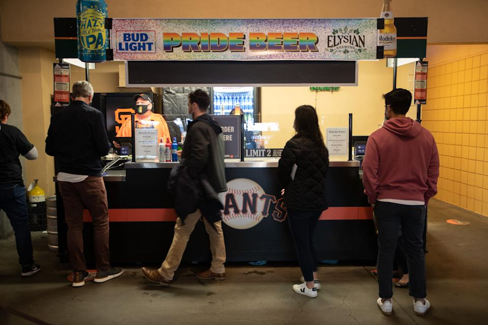SAN FRANCISCO, CALIFORNIA - JUNE 11: A view of concession stand at Pride Movie Night with screening of