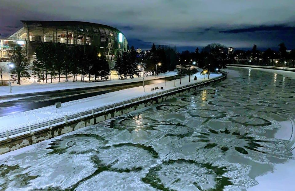 Eerily beautiful circles appear on the Rideau Canal in Ontario
