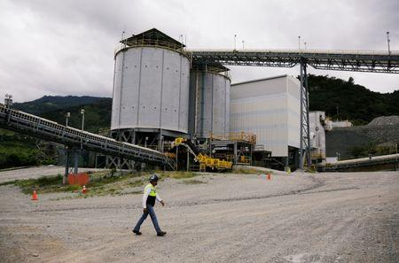 A general view shows the Escobal Silver Mine, mine unit of Tahoe Resources Inc., in the town of San Rafael las Flores