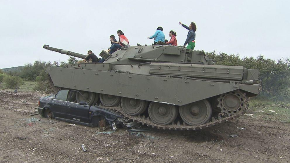 This Texas company lets you spend spring break driving real tanks, firing rounds and blowing stuff up (ABC News)