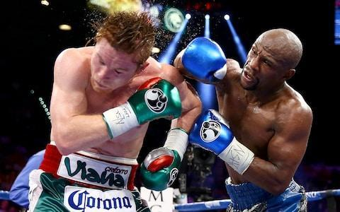 <span>Floyd Mayweather beat Canelo Alvarez by unanimous points decision in 2013</span> <span>Credit: Getty Images </span>