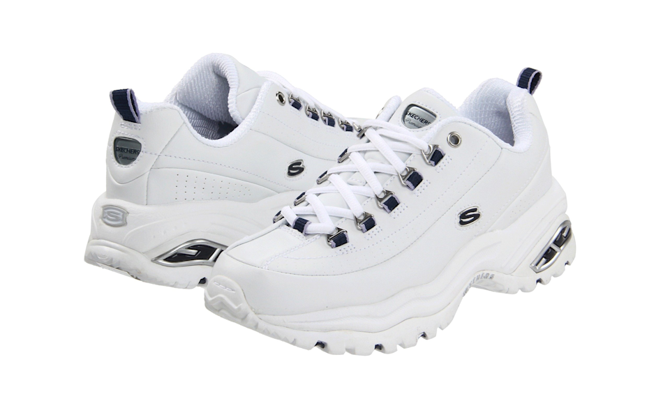 Skechers Premiums in white leather with navy trim (Photo: Zappos)