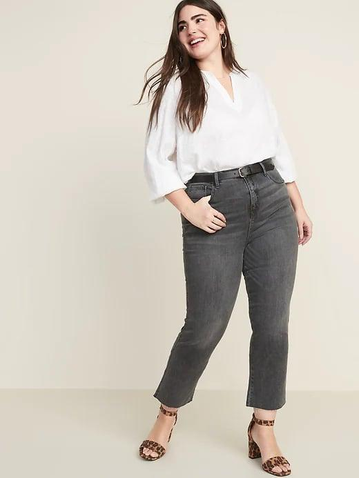 <p>With a slight flare <em>and</em> a slight crop, these <span>Old Navy High-Waisted Raw-Edged Flare Ankle Jeans For Women</span> ($28, originally $40) can show off sandals so nicely this season.</p>