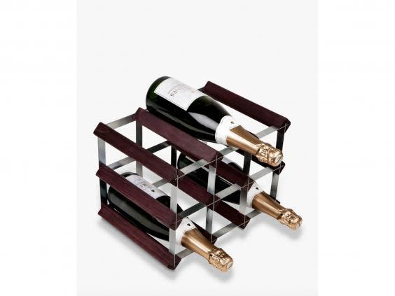 If you're looking to store your favourite bottles properly, try a sleek wine rack (John Lewis and Partners)