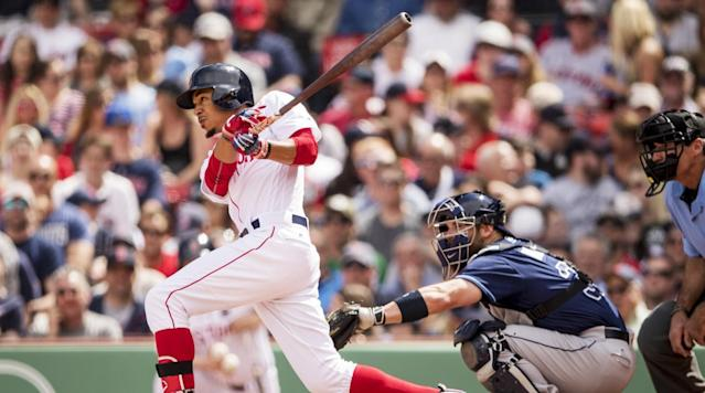 "<p>On Wednesday night Red Sox rightfielder Mookie Betts did something he had not done all year, something 479 players had already done this season: he struck out. Facing Blue Jays lefthander Francisco Liriano in the top of the fourth inning at Rogers Centre, the Red Sox' rightfielder <a href=""http://m.mlb.com/video/v1302631383/bostor-liriano-ks-betts-swinging-to-end-his-streak/?query=Mookie+Betts"" rel=""nofollow noopener"" target=""_blank"" data-ylk=""slk:chased a 2–2 slider"" class=""link rapid-noclick-resp"">chased a 2–2 slider</a> outside of the zone for a strikeout—his first since Sept. 12 of last year. That resulting streak of 129 trips to the plate without whiffing is the longest in the majors since Juan Pierre went 147 straight plate appearances sans strikeout back in 2004 with the Marlins.</p><p>Betts finished well shy of both Pierre's streak and former Phillie Dave Cash's expansion era record of 223, set in 1976. But his accomplishment is notable nonetheless, even if he himself doesn't think much of it: ""[It's] pretty irrelevant,"" <a href=""https://twitter.com/PeteAbe/status/854547430423109634"" rel=""nofollow noopener"" target=""_blank"" data-ylk=""slk:he said"" class=""link rapid-noclick-resp"">he said</a> after Tuesday night's game in Toronto, when his streak reached 128. ""An out's an out. I don't care about that at all.""</p><p>What makes Betts's performance especially impressive is that it comes in an era when strikeouts are at record numbers. Last year, the MLB strikeout rate was 21.1%, the highest rate ever recorded and one that has steadily increased since 2008 and has now topped 20% three years in a row. Hitters are swinging and missing more than they have at any point in the last 15 years (since 2002, when swing-and-miss data first became available), with the league breaking 10% for the first time in that span. And while the 2017 season is young, the league as a whole already boasts a strikeout rate of 21.6% and a swing-and-miss rate of 10.4%, both of which would be new records.</p><p>But while the rest of baseball can't connect, Betts has gone in the opposite direction. His career whiff rate is just 11.7%, and he struck out in only 11% of his 730 plate appearances last year, a rate that ranked 11th among all qualified hitters. His swinging-strike rate, meanwhile, was a miniscule 5.2%, half of what the rest of the league averaged and good for a tie for eighth-lowest overall among qualified hitters.</p><p>Just as impressive are Betts's contact rates. Last year, he connected with 87.3% of the balls he swung at, nearly 10% more than the league as a whole and in the top 15 among qualified hitters. He managed that despite swinging on only 41.2% of the pitches he saw, a rate five points lower than league average. That combination of numbers is rare territory, as just one other hitter who qualified for the batting title also had a swing rate, strikeout rate, contact rate and swinging-strike rate better than or equal to Betts's: Marlins utilityman Martin Prado. Four other hitters—the Tigers' Jose Iglesias, the Giants' Joe Panik, the Red Sox' Dustin Pedroia and the Indians' Jose Ramirez—matched or beat Betts in strikeout rate, contact rate and swinging-strike rate, but all swung more often overall.</p><p>But while those players and a few others were close to Betts in swing-rate stats, none could approach his production of 135 wRC+ (<a href=""http://m.mlb.com/glossary/advanced-stats/weighted-runs-created-plus"" rel=""nofollow noopener"" target=""_blank"" data-ylk=""slk:Weighted Runs Created Plus"" class=""link rapid-noclick-resp"">Weighted Runs Created Plus</a>, which takes Runs Created and adjusts for ballpark and era; 100 is average, so 135 is 35% above league average). That combination of offense with a low strikeout total is rare, too: Among qualified hitters, only the Nationals' Daniel Murphy and the Astros' Jose Altuve put up higher wRC+ figures last year (156 and 150, respectively) with a lower strikeout rate than Betts's 11.0%. There isn't necessarily a correlation between strikeout rate and production, but it's worth noting that most of the league's best hitters routinely strike out at rates well into the teens and 20s; Angels superstar Mike Trout, who led all of baseball with a 171 wRC+ in 2016, struck out 20.1% of the time. Betts is also part of a small group of players with elite production and low swing rates; only Trout and the Cardinals' Matt Carpenter posted higher wRC+ numbers while offering at fewer pitches than Betts.</p><p>How does Betts do it? For starters, he was a better hitter with two strikes—posting a .249 average, a .298 on-base percentage and a .355 slugging percentage in 325 plate appearances in that situation last year—than the league as a whole, which hit .176/.246/.276. His <a href=""http://www.brooksbaseball.net/h_profile.php?player=605141&gFilt=&pFilt=FA%7CSI%7CFC%7CCU%7CSL%7CCS%7CKN%7CCH%7CFS%7CSB&time=month&minmax=ci&var=swing&s_type=2&startDate=01/01/2016&endDate=01/01/2017&balls=-1&strikes=-1&b_hand=-1"" rel=""nofollow noopener"" target=""_blank"" data-ylk=""slk:zone profile"" class=""link rapid-noclick-resp"">zone profile</a> on Brooks Baseball, meanwhile, shows a hitter who takes plenty of hacks within the strike zone and makes tons of contact when he does, rarely swings and misses at actual strikes and doesn't offer much at pitches outside. Indeed, there's just one quadrant where he struggled to connect when he did swing: <a href=""http://www.brooksbaseball.net/h_profile.php?player=605141&gFilt=&pFilt=FA%7CSI%7CFC%7CCU%7CSL%7CCS%7CKN%7CCH%7CFS%7CSB&time=month&minmax=ci&var=whiff&s_type=2&startDate=01/01/2016&endDate=01/01/2017&balls=-1&strikes=-1&b_hand=-1"" rel=""nofollow noopener"" target=""_blank"" data-ylk=""slk:very low and outside"" class=""link rapid-noclick-resp"">very low and outside</a>.</p><p>Overall, Betts's philosophy is a simple one: Don't swing often, but make contact when you do. That creates an incongruous and unique profile because he has the same swing and contact rates of low-power slap hitters like Iglesias or Panik but produces results closer to the likes of Trout. Betts's ability to cover the plate and punish strikes while also driving the ball is hard to find in today's game. So while Wednesday night saw his strikeout-less streak end, don't be surprised if Betts also quietly started another one.</p>"