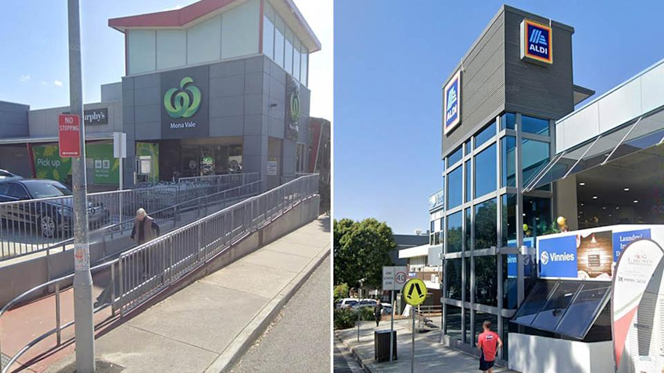 An Aldi and two Woolworths supermarkets on Sydney's Northern Beaches were visited by confirmed Covid cases. Source: Google Maps