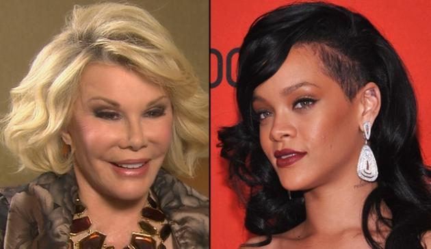 Joan Rivers, Rihanna -- Getty Images