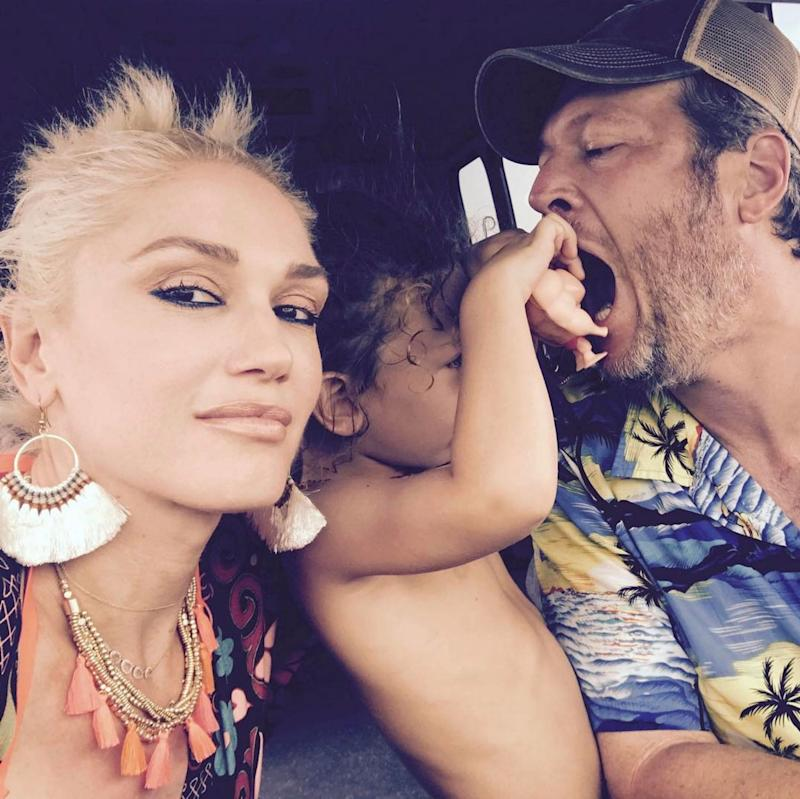 Cute Photo Of Gwen Stefani,Blake Shelton & Son Apollo