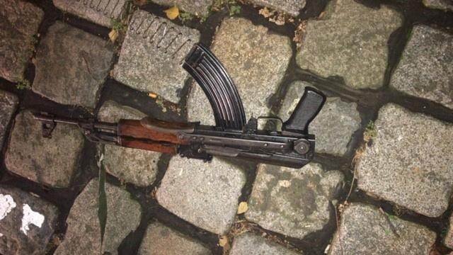 Undated handout photo of gun used during the November 2, 2020 attack in Vienna