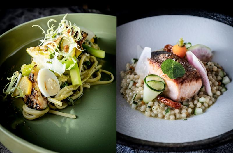 Zucchini pasta and Salmon & Pearl. Photo: 51 Soho