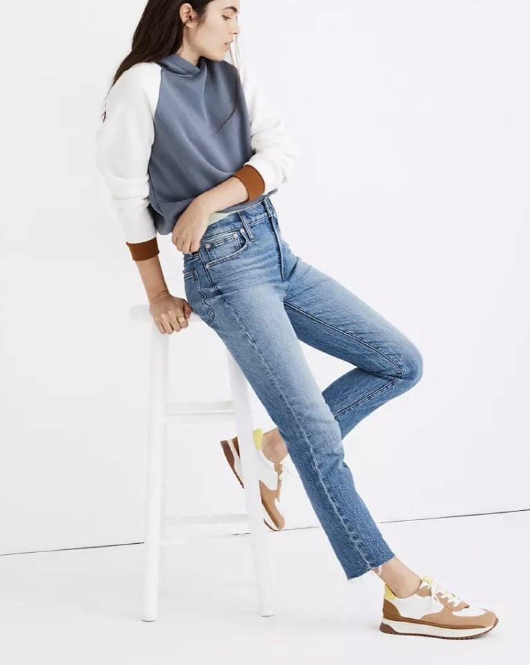 <p><span>Madewell The Perfect Vintage Jean in Enmore Wash: Raw-Hem Edition</span> ($128)<br></p>