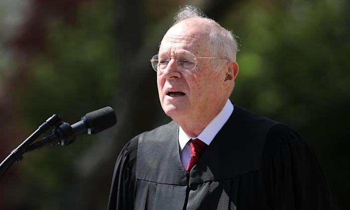 """<span class=""""element-image__caption"""">Anthony Kennedy last year. He was first nominated to the court in 1988.</span> <span class=""""element-image__credit"""">Photograph: Chip Somodevilla/Getty Images</span>"""