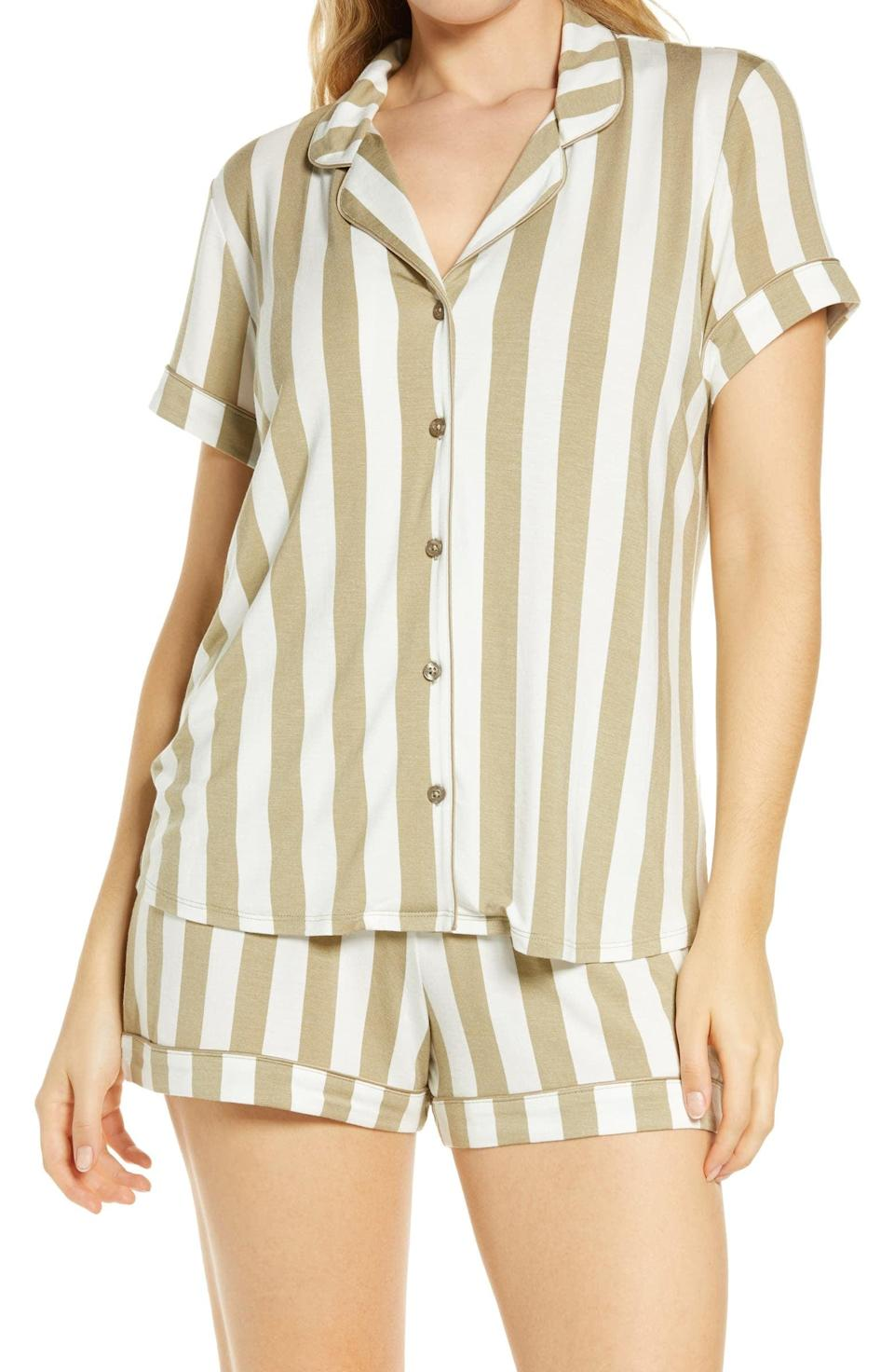 <p>For a more casual yet still put-together style, go for these <span>Nordstrom Lingerie Moonlight Short Pajamas</span> ($49).</p>
