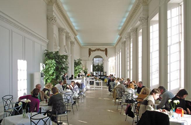 """<p><strong>Where</strong>: London, England</p>  <p>Built in 1704, , or """"greenhouse"""" in the gardens at is a light-filled venue with floor-to-ceiling windows and white-washed stone floors, the ideal setting for traditional English tea. Guests can choose from the English Orangery Afternoon Tea or the Royal Tea—which comes accompanied by a glass of Laurent-Perrier Brut or Rosé Spumante. We recommend a stroll through the gardens to walk off the food coma and Champagne buzz.</p>  <p><strong>Plan Your Trip:</strong> Visit Fodor's </p>"""