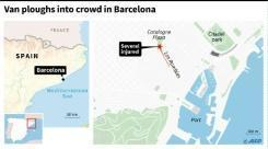 13 dead in Barcelona van carnage, driver at large