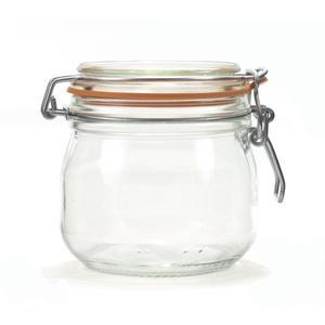 """Glass jar-<br>Store grains, spices â€"""" anything you like â€"""" in this <a href=""""http://blogs.babble.com/family-style/2011/05/25/10-products-that-will-make-everyday-life-a-little-prettier/"""" rel=""""nofollow noopener"""" target=""""_blank"""" data-ylk=""""slk:air-tight glass jar"""" class=""""link rapid-noclick-resp""""><b>air-tight glass jar</b></a>."""