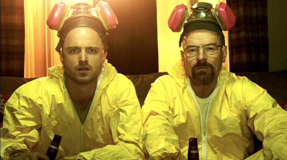 Breaking Bad's Aaron Paul and Bryan Cranston (credit: AMC)