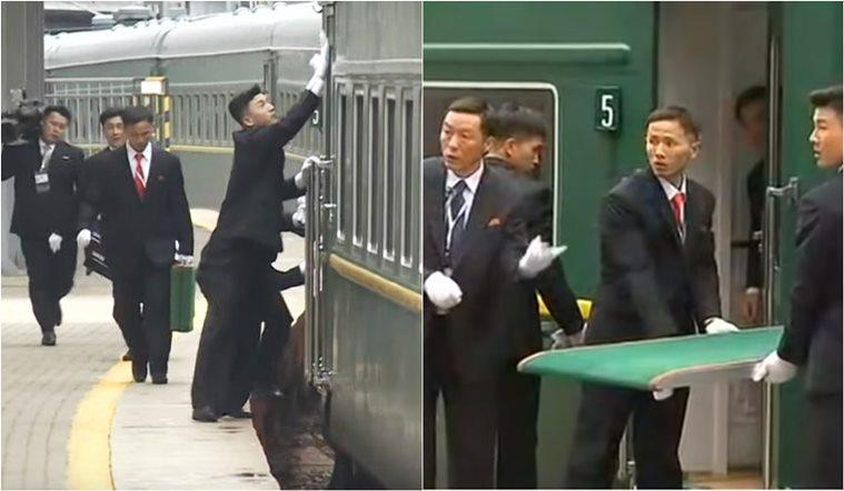 Kim Jong Un, Kim Jong Un russia visit, kim putin meeting, kim train in russia, kim train red carpet glitch, kim bodyguard polish coach, viral news, indian express