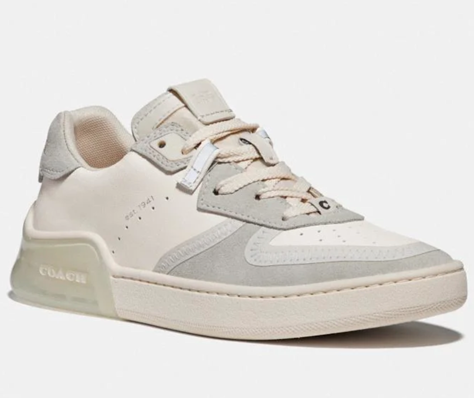 "<br><br><strong>Coach</strong> Citysole Court Sneaker, $, available at <a href=""https://go.skimresources.com/?id=30283X879131&url=https%3A%2F%2Fwww.coach.com%2Fcoach-citysole-court-sneaker%2FG5045.html%3Fdwvar_color%3DCHK%26"" rel=""nofollow noopener"" target=""_blank"" data-ylk=""slk:Coach"" class=""link rapid-noclick-resp"">Coach</a>"